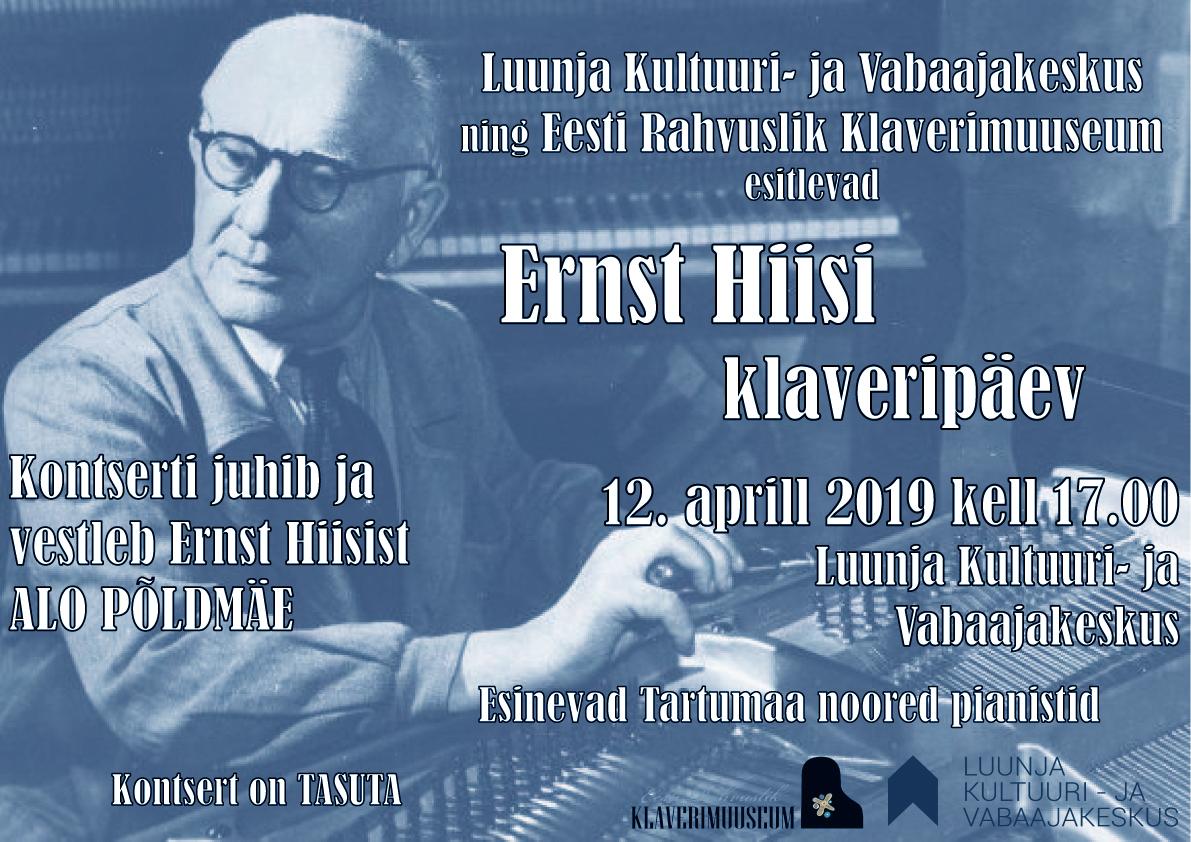 Ernst Hiisi klaveripäev Luunjas!